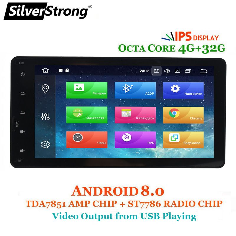 SilverStrong 8Core 4G Car GPS For MITSUBISHI Android8.1-8.0 Outlander 2014 2015 2016 2017 2018 2DIN for ASX Pajero option 2G/16G