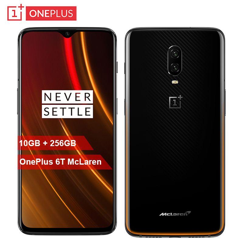 Original OnePlus 6 T McLaren Handy 6,41 zoll 10G RAM 256G ROM Snapdragon 845 Octa Core 16MP + 20MP Dual Kamera NFC Smartphone