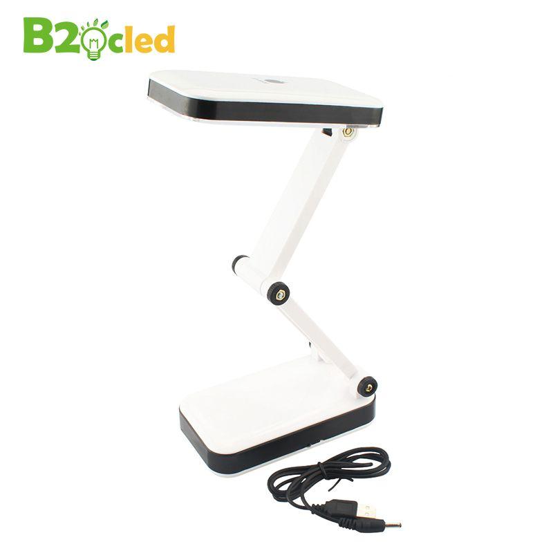 USB LED licht schreibtisch Zwei ständen licht 3 AA batterien schreibtisch lampe 24 LED hohe licht Klapp weiß licht tischlampe Lesen maniküre