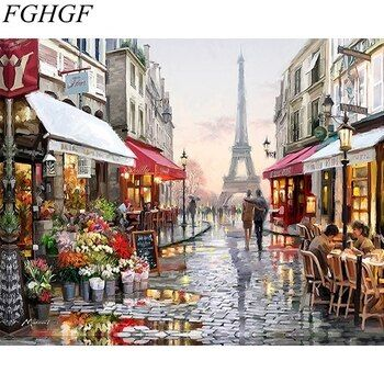 Landscape Painting by Numbers Diy Oil Canvas Painting Wall Art Coloring By Numbers Digital Painting Home Decor Handpainted Paint