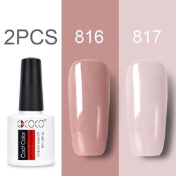 GDCOCO Nail Gel Polish Kits New Arrival Canni Supply Gel Nail Polish Soak Off UV LED Purple Lacquers Pink Gel Polish