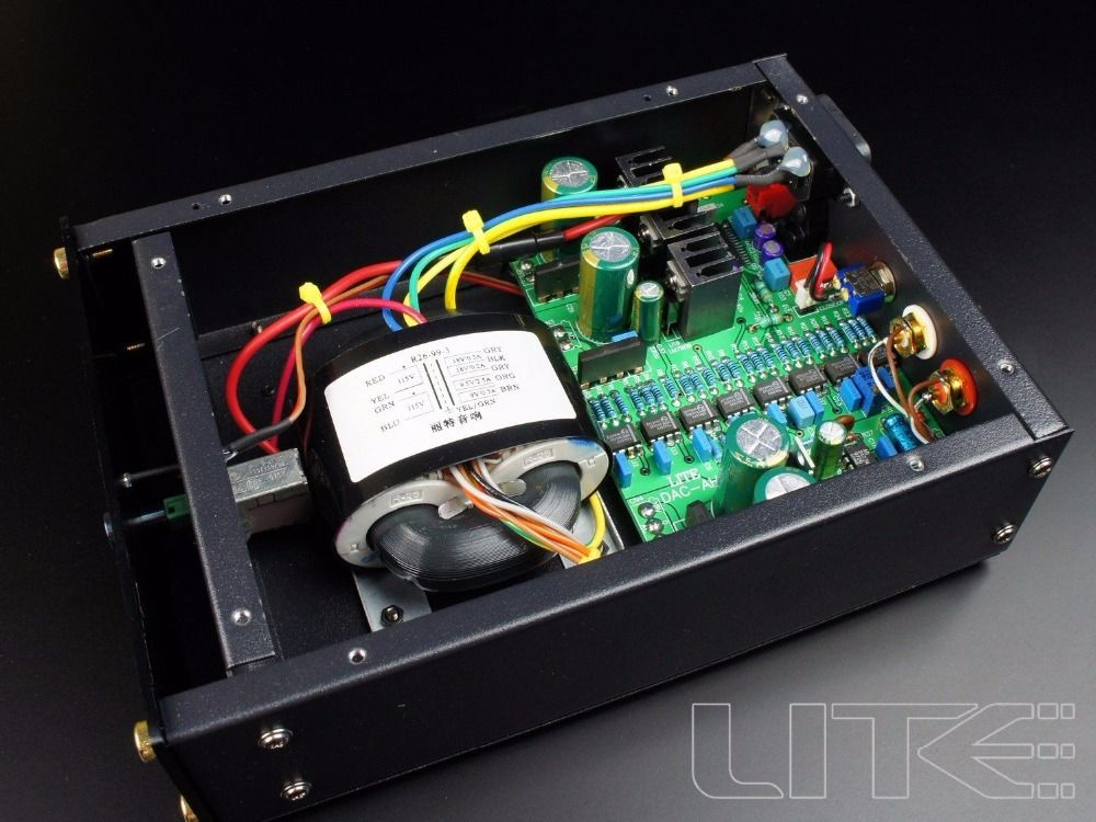 LITE TDA1543 X8 In Parallel Hallo-end Audio DAC Koaxial + Faser Eingang
