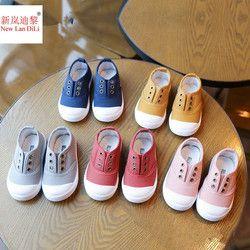 HH niños Zapatos zapatillas de lona primavera niños moda niñas Zapatos lona del muchacho del niño Zapatos tamaño 21-36 niños baratos entrenadores