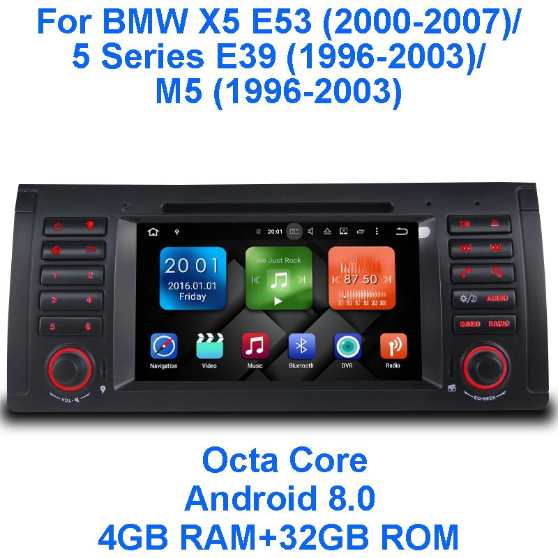 Android 8.0 Octa-core 4G RAM 32G ROM GPS Navigation 7
