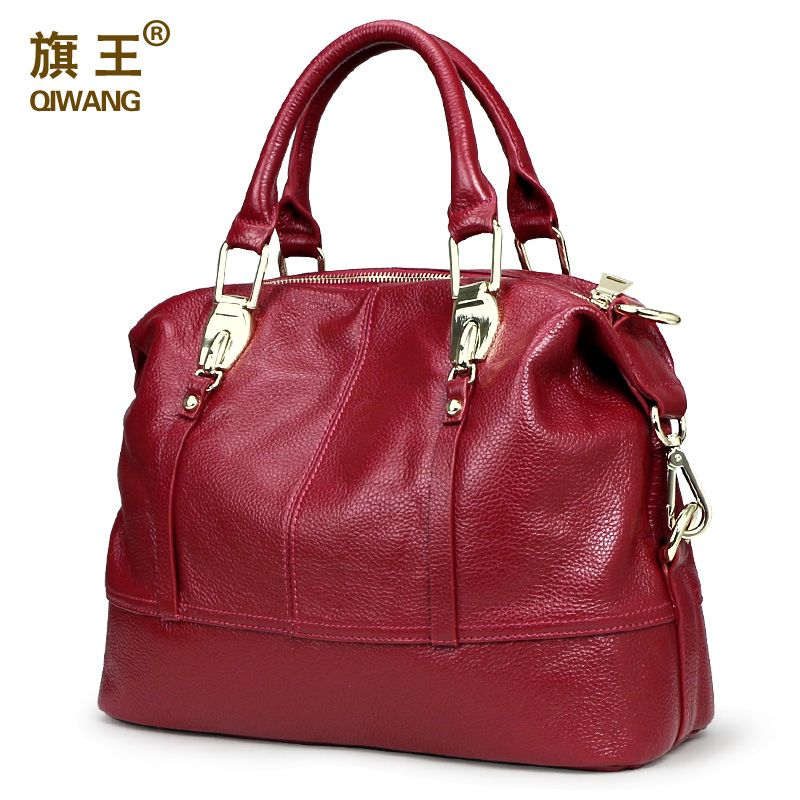 QIWANG <font><b>Women</b></font> Practical Bag Handbags Designer Roomy Bag Organized <font><b>Women</b></font> Leather Handbags Functional Beautiful Purse