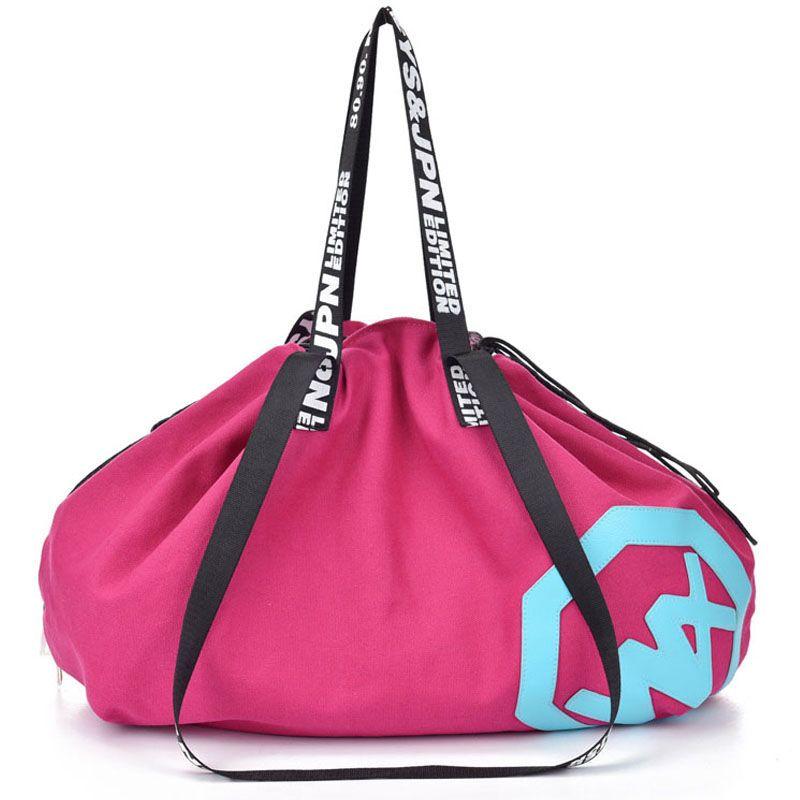 Große große Kapazität Reisetasche Outdoor Reise Handtasche Leinwand Sporttasche Yoga-Matte Tasche Kordelzug Sporttaschen Sporting Frauen Fitness Tasche