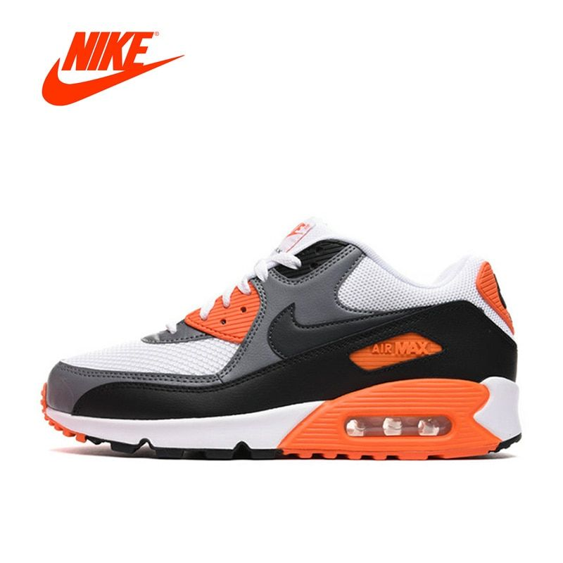 Original Authentic NIKE Men's Shoes AIR MAX 90 ESSENTIAL Breathable Outdoor Running Sneakers Men Shoe Sports Designer 537384-128