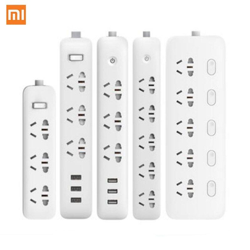 Xiaomi WIFI prise de courant intelligente câble d'extension de ménage carte d'alimentation 3/5/6/8 trou USB charge rapide 2500W 10A 250V