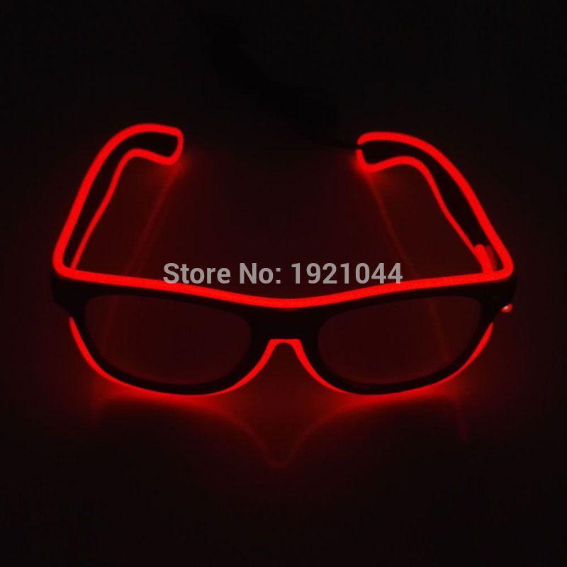 Ventes chaudes EL Lunettes EL Fil Néon De Mode LED S'allume Shutter En Forme Lunettes Rave Party Festival Décoratif lunettes de Soleil