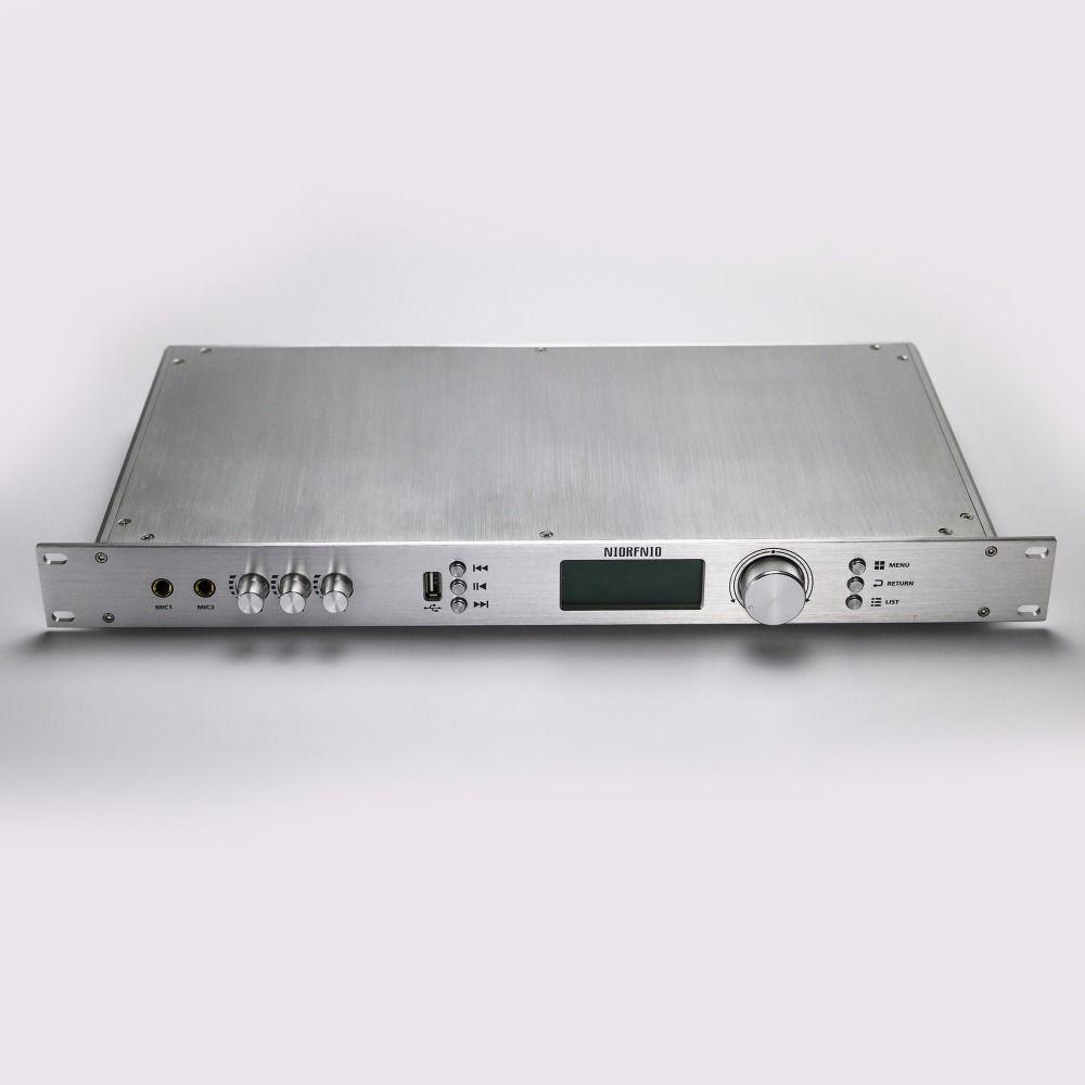 Freies Verschiffen T50R 50 Watt Ausgangsleistung FM Drahtlose Audio-Sender und Empfänger Große Reichweite 15 KM zu 25 KM