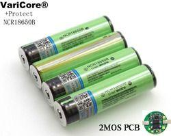 2019 защищенный оригинальный 18650 NCR18650B 3400 mAh литий-ионный аккумулятор с PCB 3,7 V для фонарика