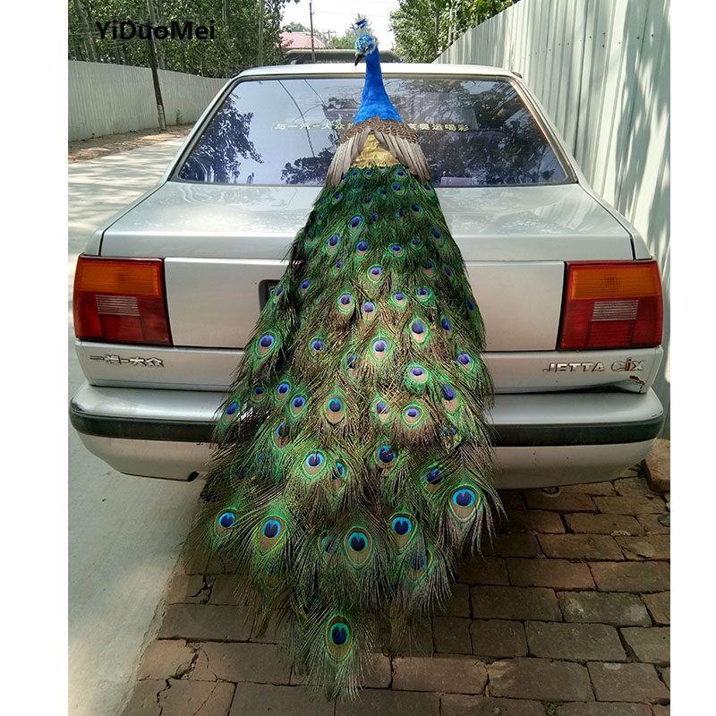 Künstliche vogel pfau modell große 150 cm schöne federn pfau handwerk, prop, hauptdekoration geschenk p1601