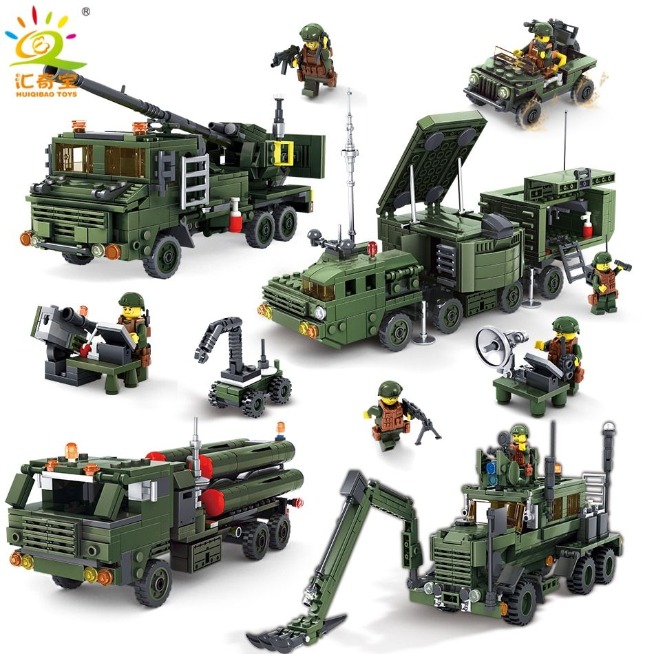 Military Building Blocks Toys For Children Boy's Gift Army ww2 Cars Planes Helicopter Figures Weapon Compatible Legoed City