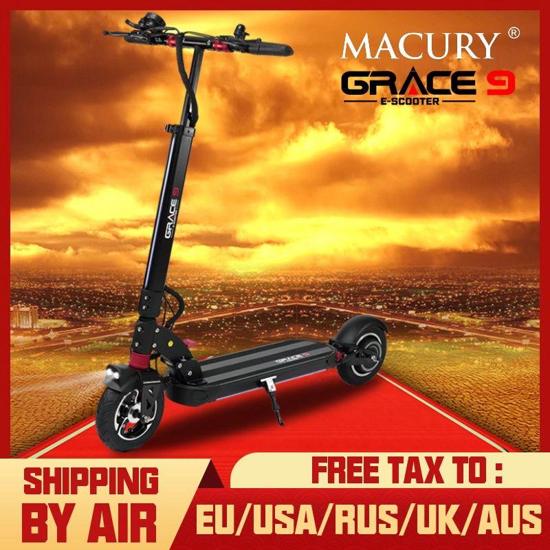 Macury GRACE9 elektrische roller GNADE 9 hoverboard 2 rad 8 zoll 48V600W erwachsene Null 9 8,5 leichte mini faltbare ZERO9 t9