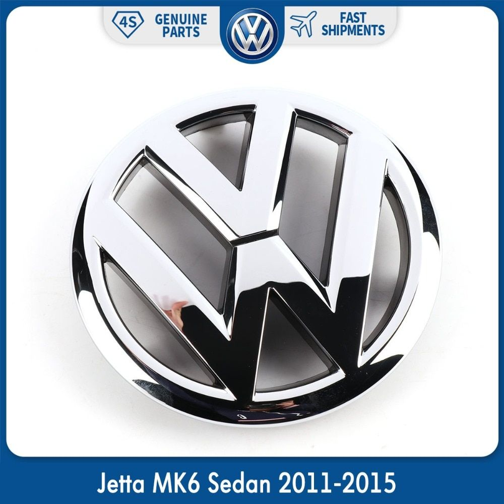 Car Auto 130mm VW Emblem Chrome OEM Front Grille Badge Sticker For Volkswagen Jetta MK6 Sedan 2011-2015 5C6 853 601 5C6853601ULM