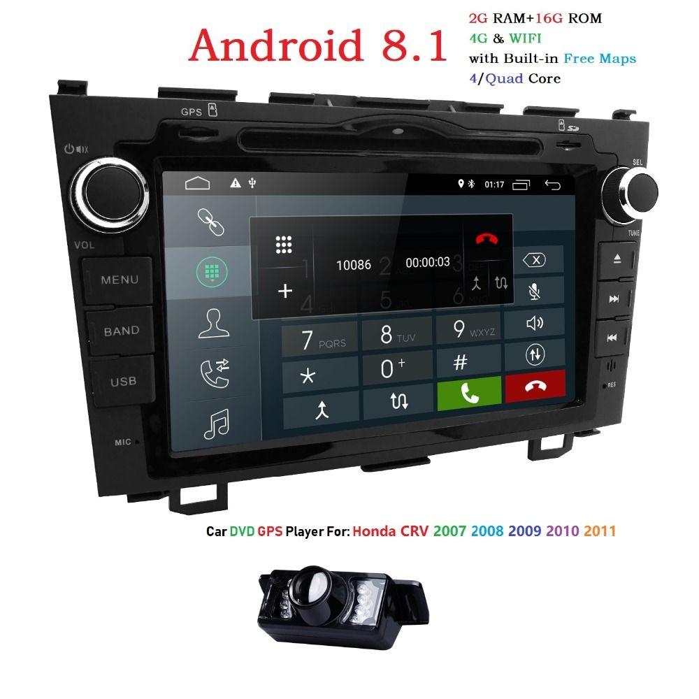 Hizpo Quad Core 2G + 16G 2DIN Android 8.1 Auto DVD Player Für HONDA CRV CR-V CR V GPS navigation Radio WIFI Multimedia Stereo 4G BT