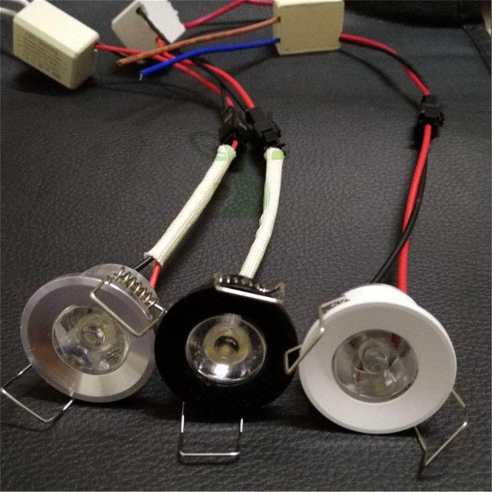 LED-Mini-Downlight Unter Kabinett Punktlicht 1 Watt für Deckeneinbauleuchte AC85-265V Dimmbare Unten lichter kostenloser versand
