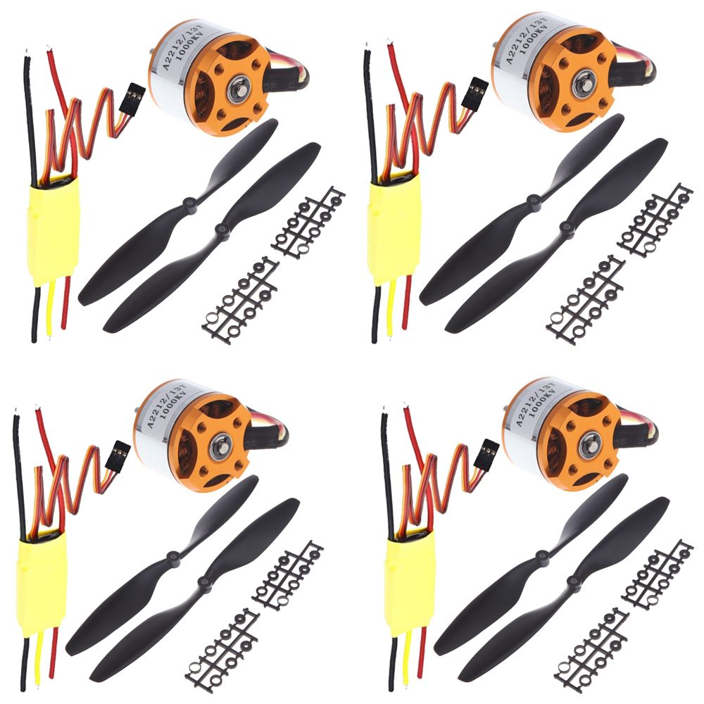 4 ensemble/lot Universel RC Quadcopter Partie Kit 1045 Hélice (1 paire) + HP 30A Brushless ESC + A2212 1000KV Outrunner Moteur Brushless