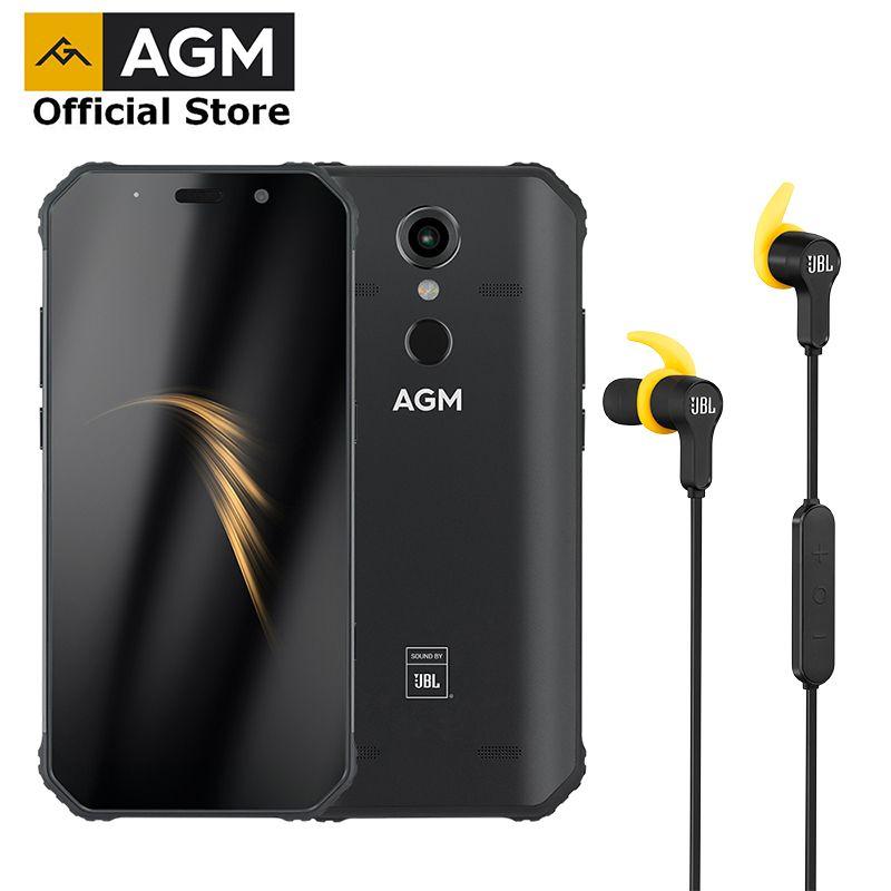 OFFIZIELLE AGM A9 + JBL kopfhörer FHD + JBL Co-Branding Smartphone 4G Android 8.1 Robuste Telefon IP68 Wasserdicht NFC Quad-Box Lautsprecher