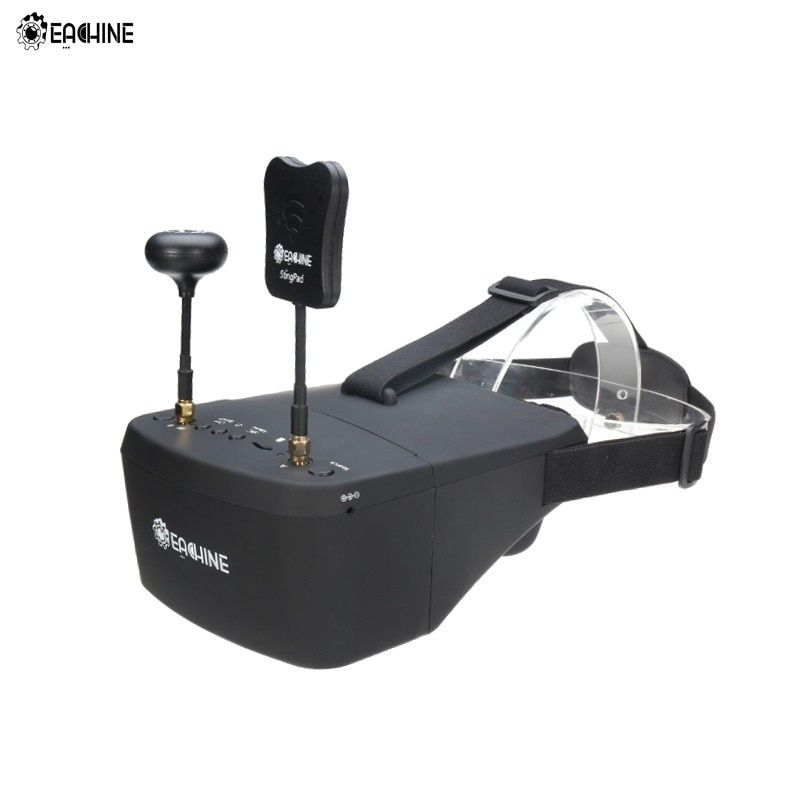 In Stock!! Eachine EV800D 5.8G 40CH 5 Inch 800*480 Video Headset HD DVR Diversity FPV Goggles With Battery For RC Model