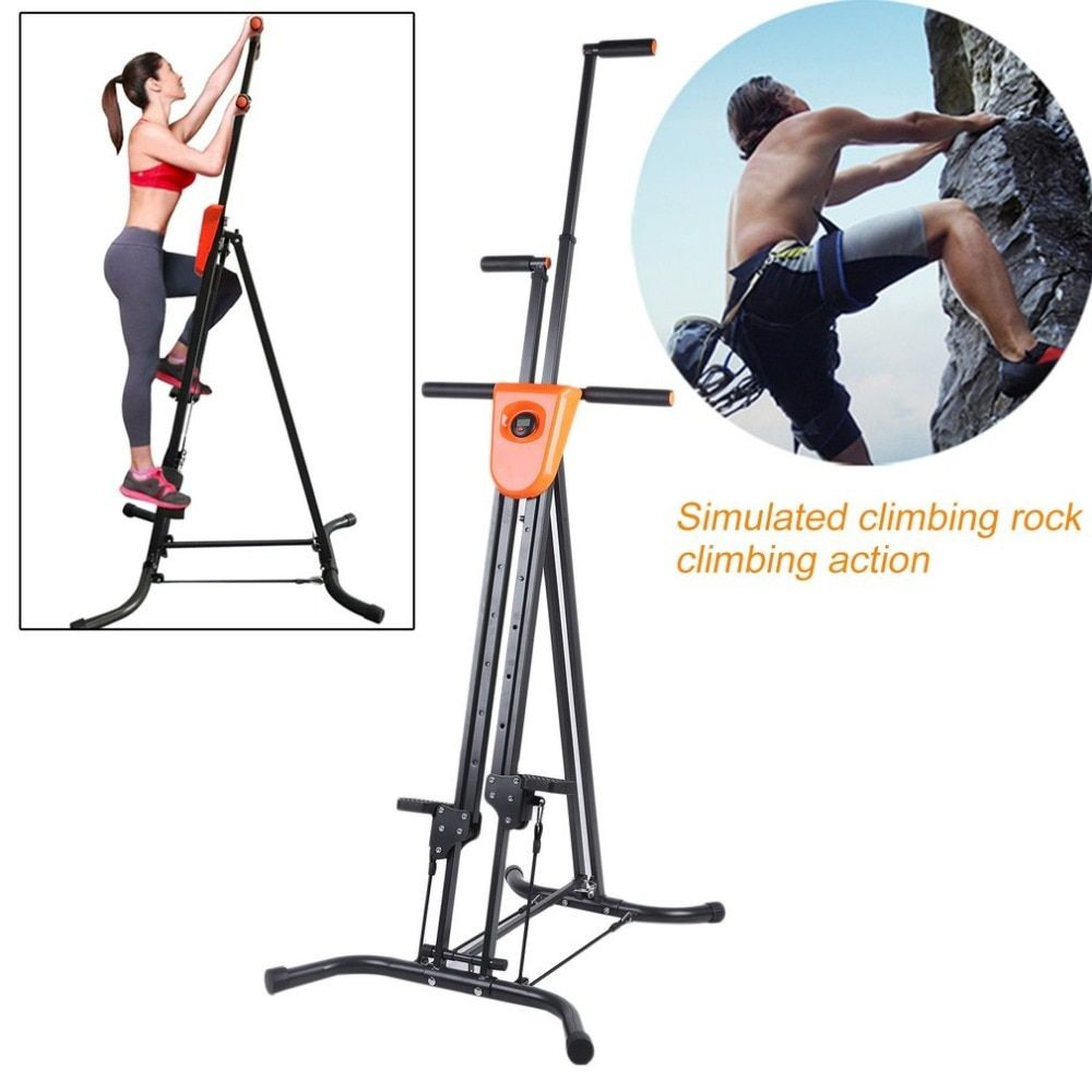 Digital Display Foldable Vertical Climber Climbing Machine Exercise Training Cardio Stepper Fitness Workout Gym Home Equipment