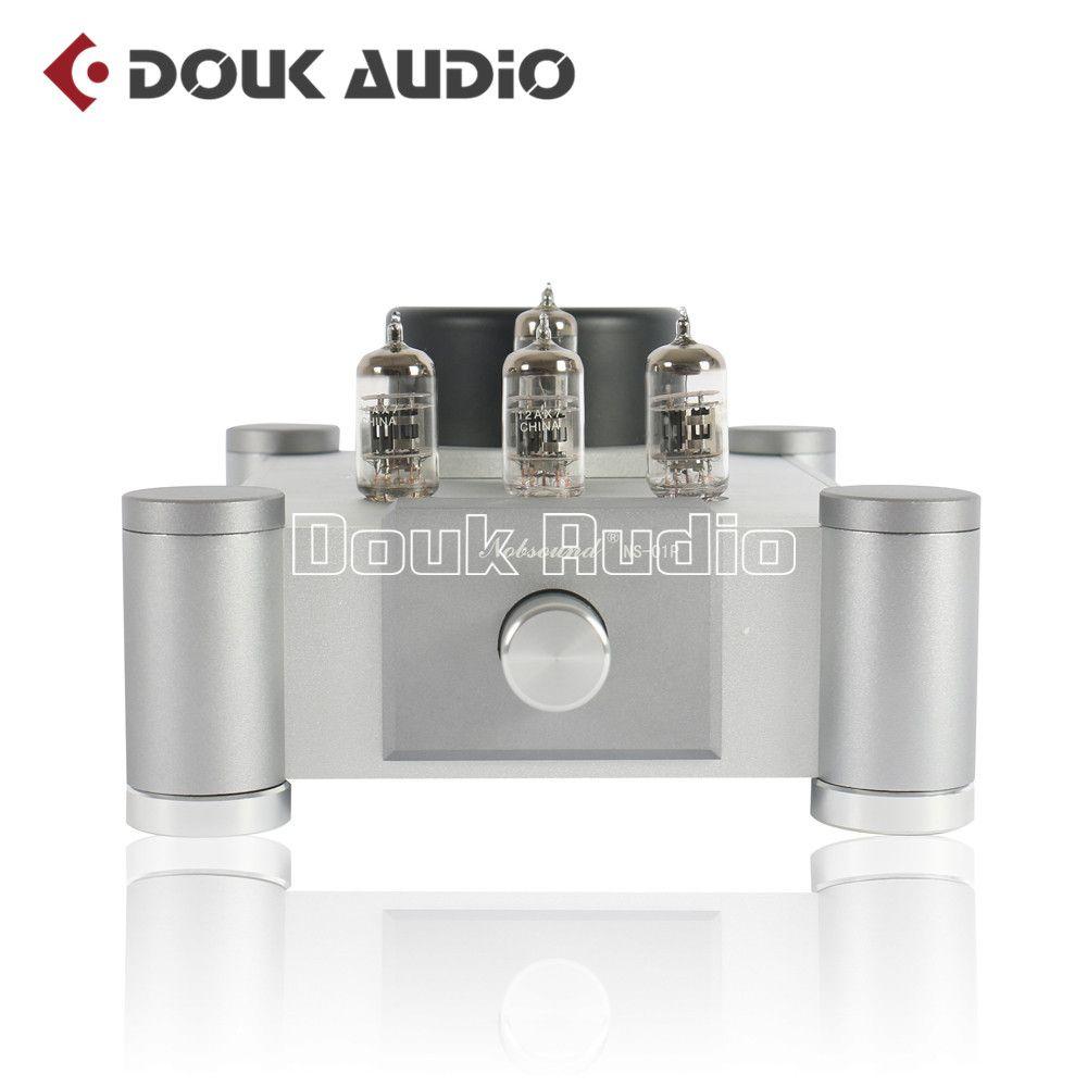 2018 Latest Nobsound 12AX7 Vacuum Tube Preamplifier Audio Stereo HiFi Single-ended Tube Amplifier Pre-Amplifier Ref Marantz 7