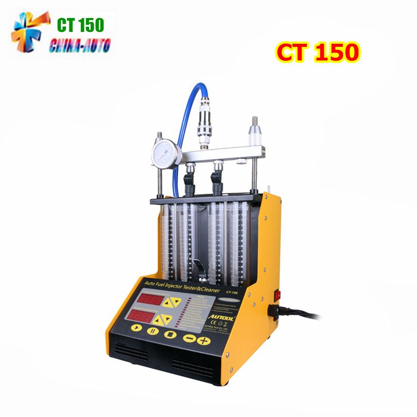 AUTOOL CT-150 Benzin Auto Motorrad Auto Ultraschall Fuel injector reinigung tester maschine 220 V/110 V straffung 4 zylinder