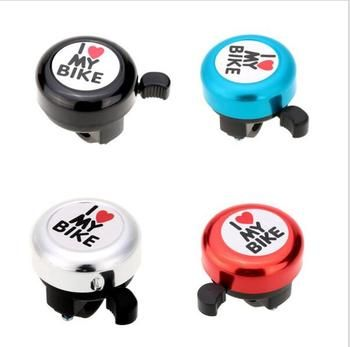 New Safety Bicycle Bell I Love My Bike Printed Clear Sound Cute Bike Horn Alarm Warning Bell Ring Bicycle Accessory