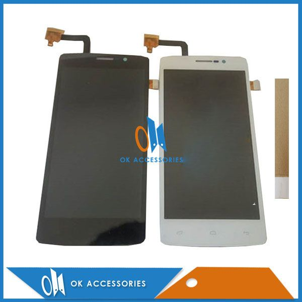 Black White Color For Fly IQ4504 IQ 4504 EVO Energy 5 LCD Display+Touch Screen Digitizer Assembly With Tape 1PC/Lot