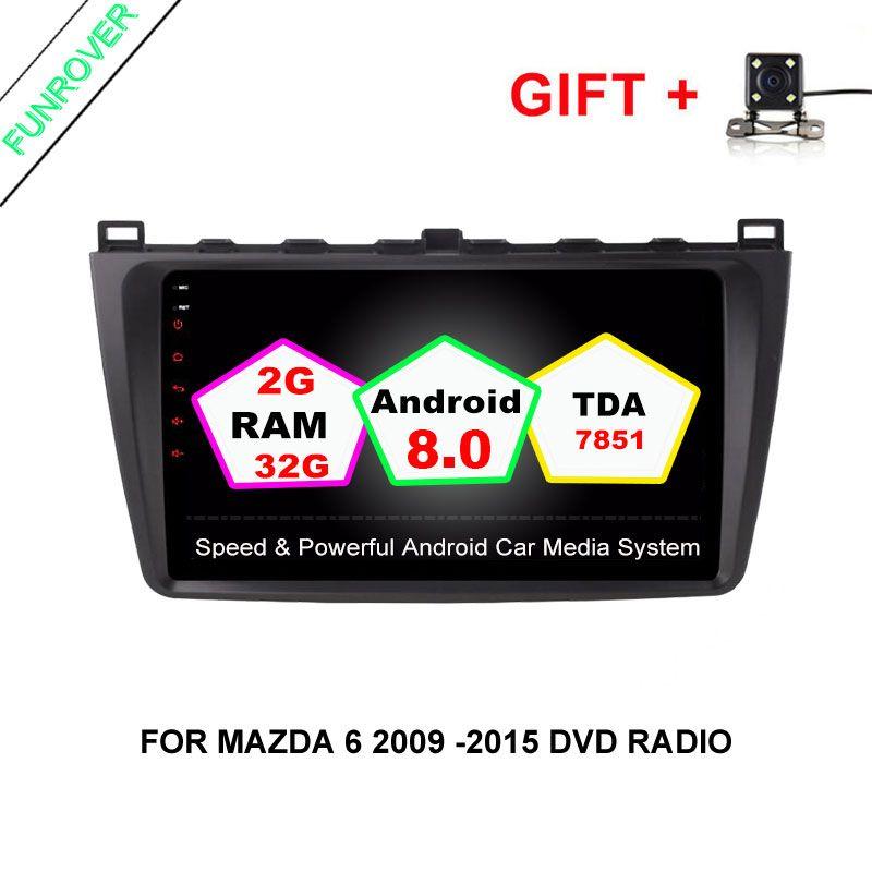 Funrover RAM 2GB Android For MAZDA 6 Mazda6 Ultra 2008- 2015 CAR Multimedia radio player GPS NAVIGATION NAVI FM tape recorder