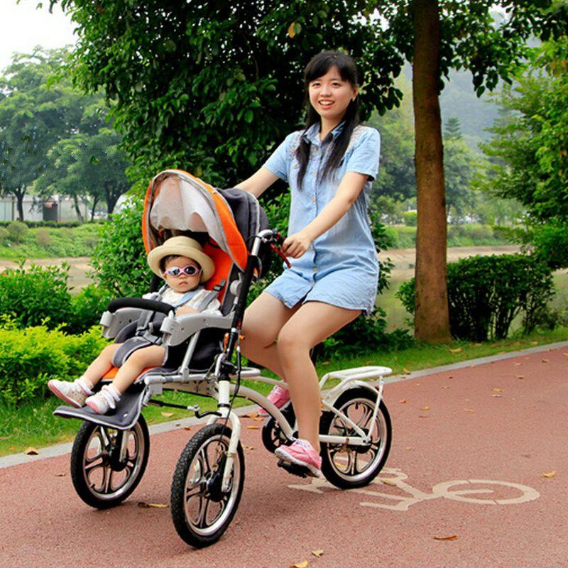 2 In 1 Fahrrad Kinderwagen/Warenkorb Mit Moskito Netz Und Regen Abdeckung