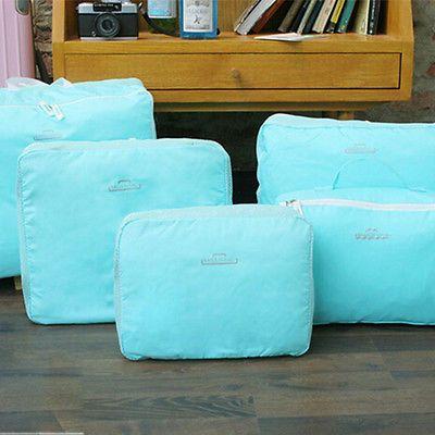 5 PCS Travel Luggage Packing Cube Bag Set Clothes Organizer Storage Bag Kit Travel Accessory