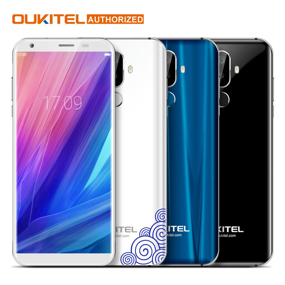 Oukitel K5 4G 5.7 inch 18:9 Display MTK6737T Mobile Phone Android 7.0 2G 16G Quad Core 4000mAh 3 Cameras Fingerprint Smartphone