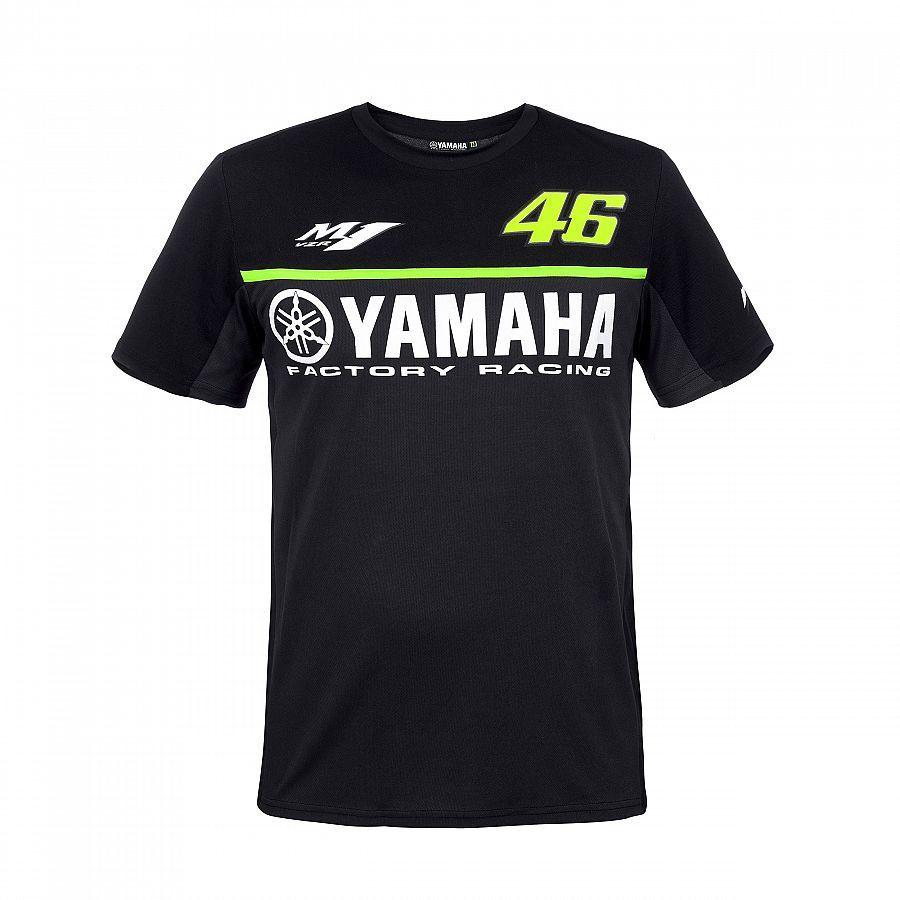 2017 Valentino Rossi VR46 Racing Black Moto GP Men's for Yamaha T-Shirt Motorcycle Sports Tee