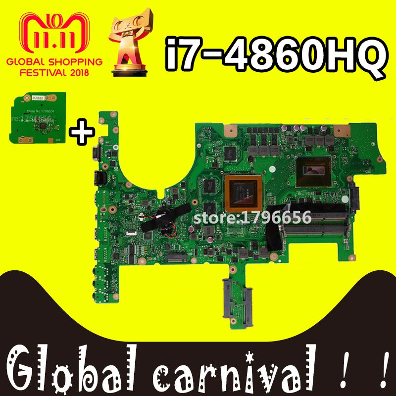 G751 motherboard For ASUS G751J G751JY G751JT G751JM laptop mainboard with I7-4860HQ CPU GTX980M 4GB mainboard Test OK