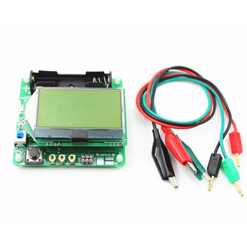 2016 NEW LCD 12864 Mega328 Transistor Tester Diode Triode Capacitance LCR ESR Meter free shipping