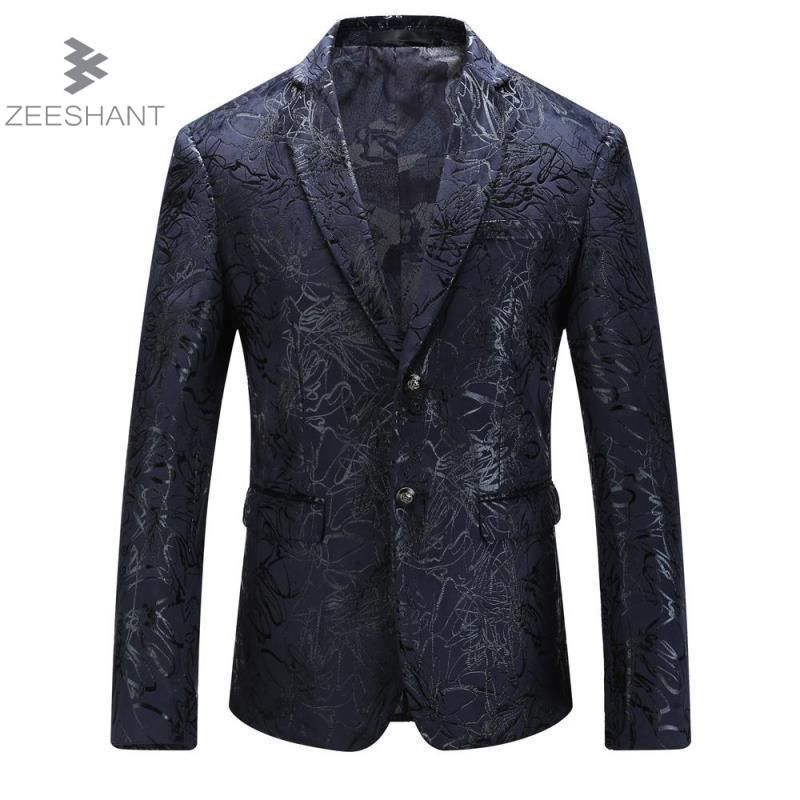 Zeeshant Men Slim Fit Suit Jacket Blazer Lapel Business Wedding Groom Leisure Tuxedo Latest Coat Pant Designs Plus Size M-5XL