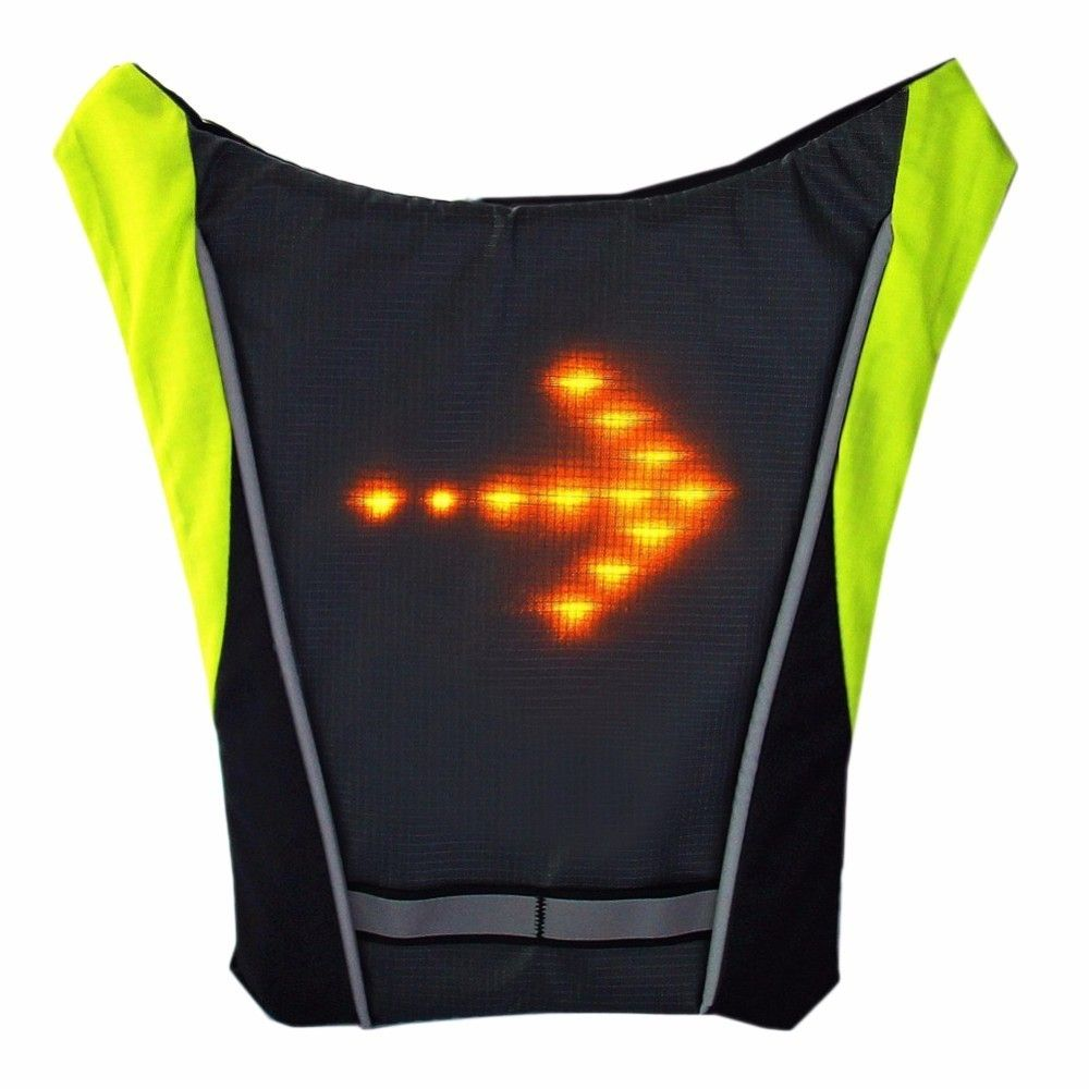 Reflective Safety Vest Outdoor Waterproof 48 LED Turn <font><b>Signal</b></font> Vest Outdoor Running / Night Walking / Cycling Vest Coat