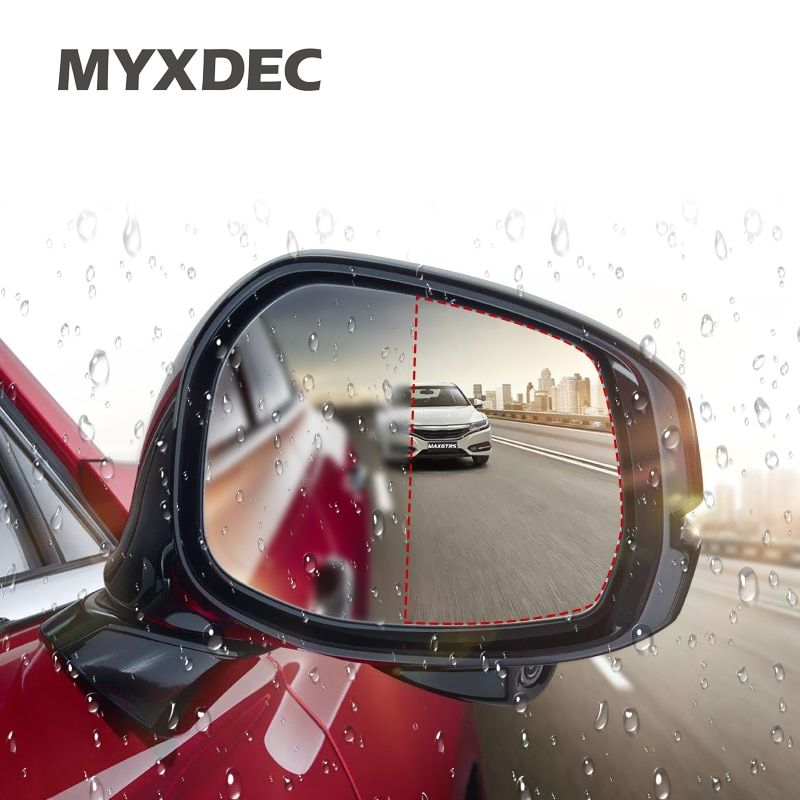 2x Universal Waterproof Rearview Mirror Film Car Stickers Antifog Auto Dimming Sticker Rain-proof Vinyl Wrap Film Car-styling