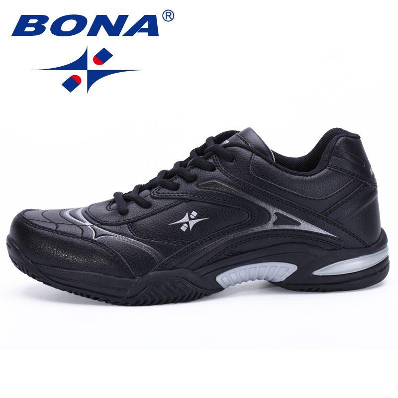 BONA Neue Klassiker Stil Männer Tennis Schuhe Atmungs Stabilität Sneakers Außensportschuhe Strapazierfähig Licht Schnelles Freies Verschiffen