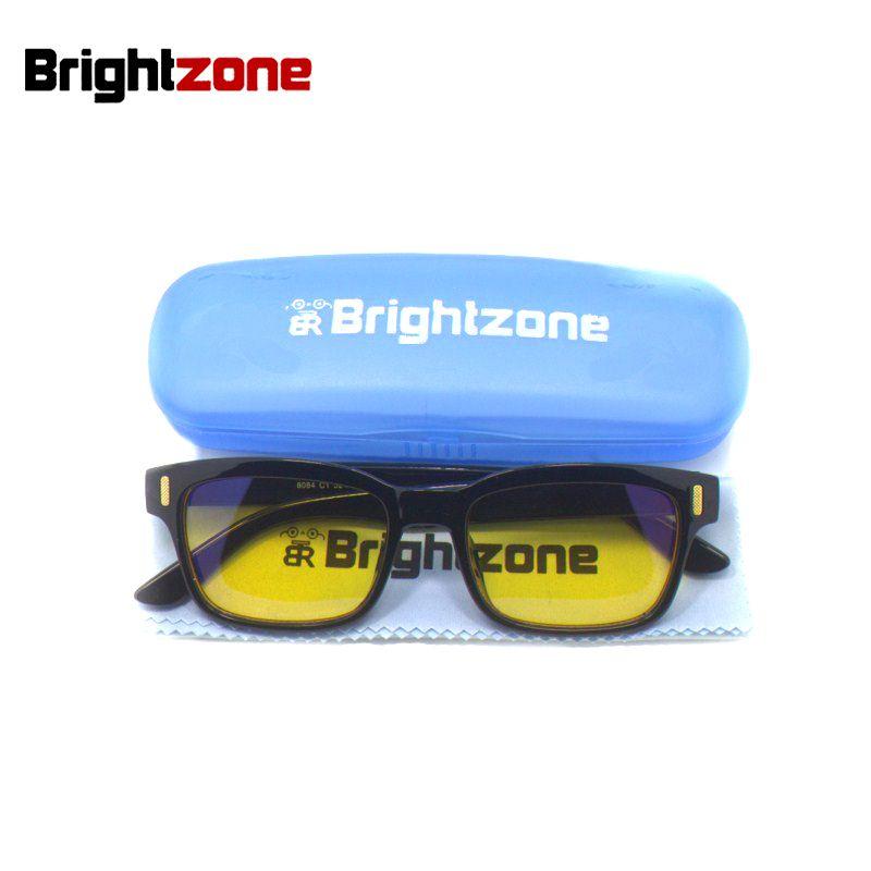 Brightzone Nouveau Anti-Fatigue et UV Blocage Bleu Lumière Filtre D'arrêter Œil Protection de Souche de Jeu Style Cadre Lunettes D'ordinateur hommes