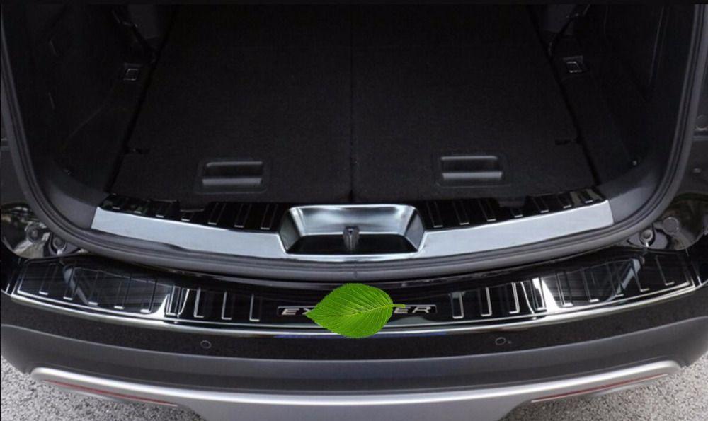 Edelstahl Hinten + Outer Inner Stoßschutz Einstiegsplatte 2 stücke Fit Für Ford Explorer 2016 2017 2018