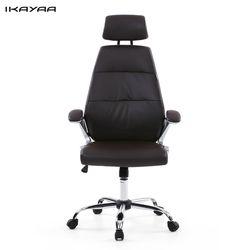 Ikayaa de FR stock Oficina silla ajustable Oficina Ejecutiva silla taburete alto respaldo ergonómico giratorio ordenador Muebles de oficina