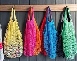 Reusable Fruit Shopping String Grocery Shopper Cotton Tote Mesh Woven Net Bag B