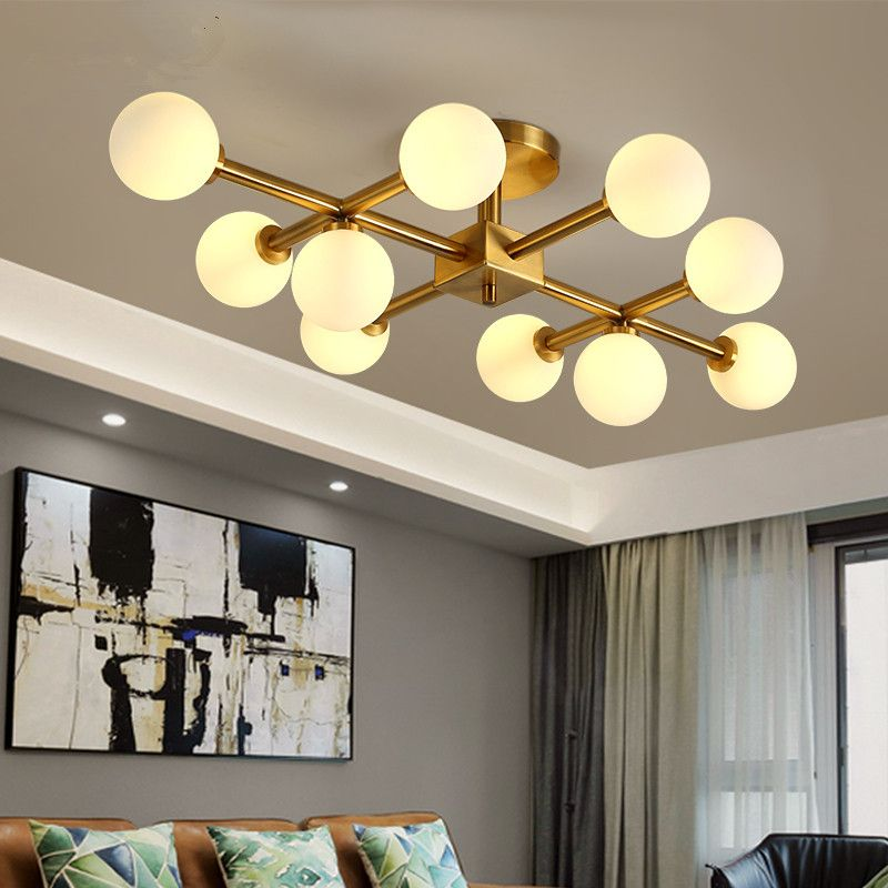 Lamparas Nordic Magie Bean Schlafzimmer Wohnzimmer Led-deckenleuchte Glas Runde Ball Molekül LED Kronleuchter Beleuchtung Hängen Lampe