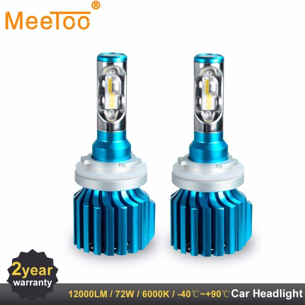 Car Headlights H4 H7 LED Bulbs H1 H11 HB4 HB3 9005 9006 9012 12V 80W 6000K 12000LM COB Auto Lamps Replace Headlamp Fog Light