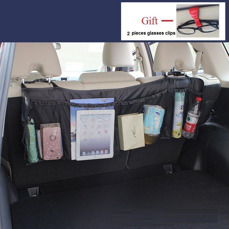 104*35cm Stowing Tidying Car Seat Back Storage Bag Trunk Organizer Auto Pockets Phone tablet snacks Light Car Tools Storage Bag