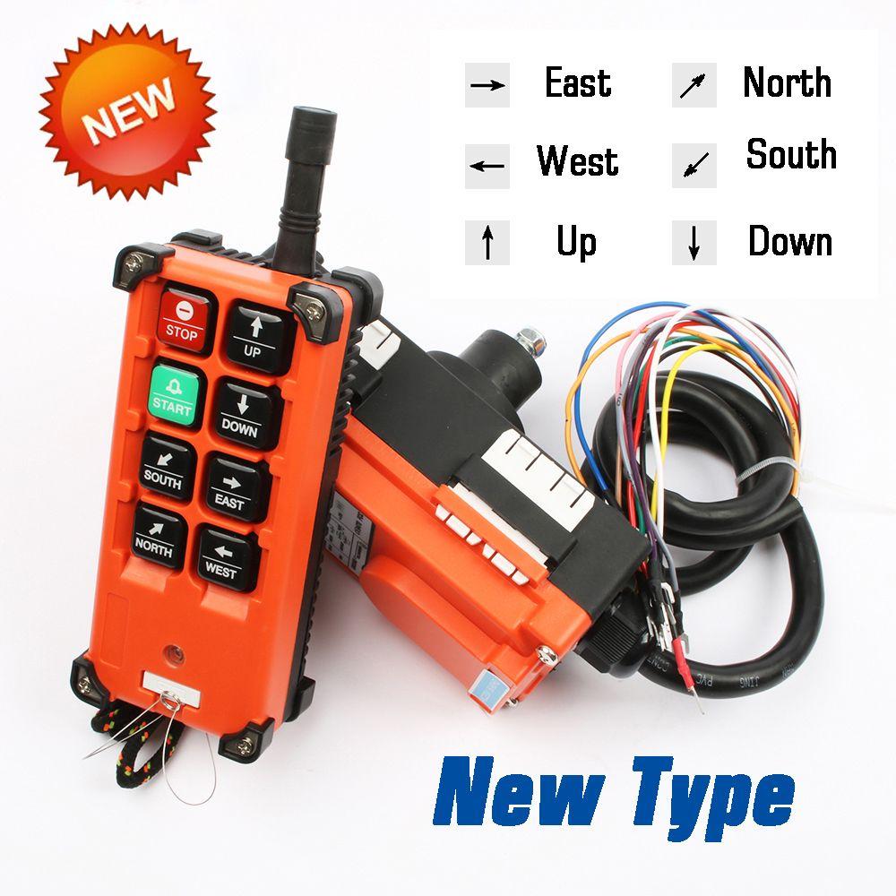 AC 220V 380V 110V DC 12V 24V Industrial remote controller switches Hoist Crane Control Lift Crane 1 transmitter + 1 receiver
