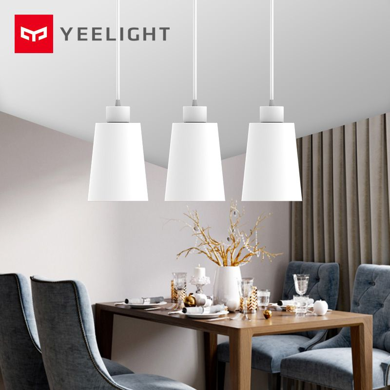 Original xiaomi Mijia Yeelight chandelier , E27 screw mouth,work with Yeelight blub For xiaomi smart home kit ceiling light