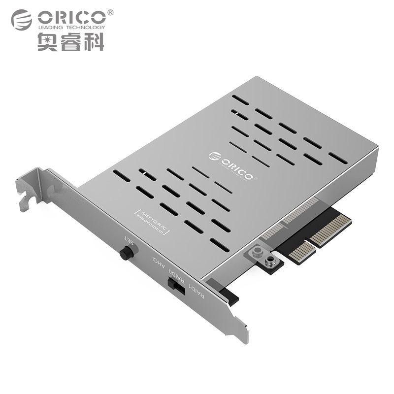 ORICO PRS2 Desktop дискового массива карта pci-e M.2 SSD Нержавеющая сталь высокоскоростной RAID жесткий диск Expansion Card